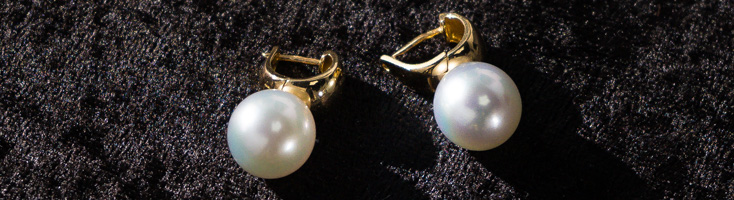 18ct Yellow Gold Pearl Earrings