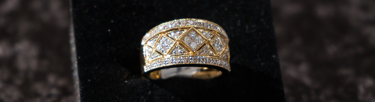 18ct Yellow Gold Tapered Band Ring